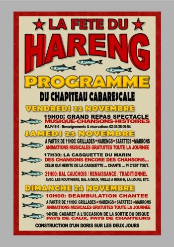 Affiche Festival fête du hareng à Fécamp